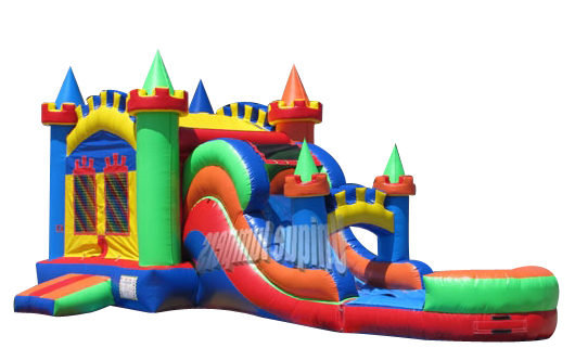 4-in-1 Majestic Castle Combo Slide – Wet 14x30